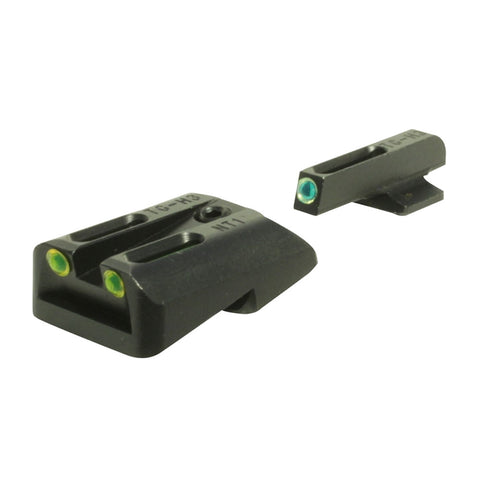 TRUGLO Brite-Site TFO Green, Rear Yellow Novak .260/.450 Handgun Sights (TG131NT1Y)
