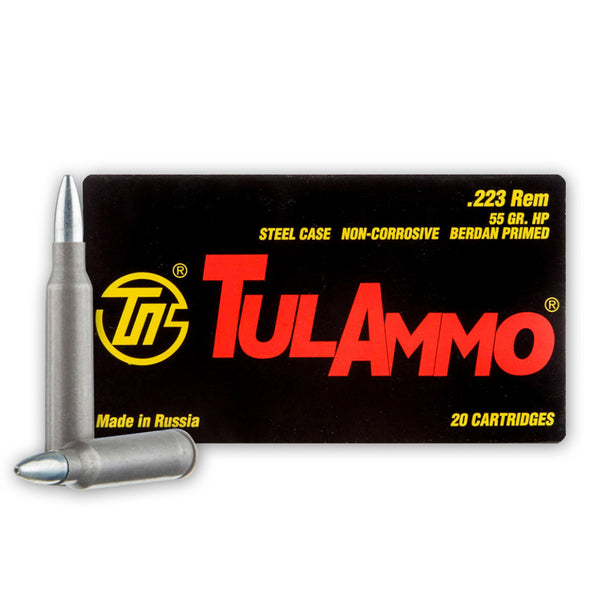 TulAmmo 223 Rem- Hollow Point Ammo TA223552