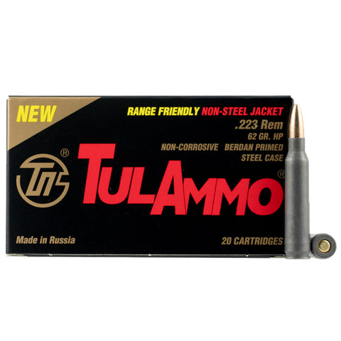 TULAMMO Centerfire Rifle 223 Remington/5.56 NATO 62 Gr Hollow Point Ammo, 20 Rd Box (TA223624)
