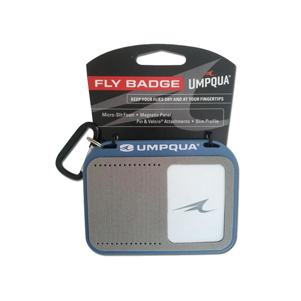 UMPQUA Fly Gray/Blue Badge (33062)