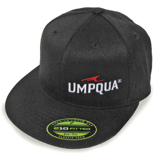 UMPQUA Gangsta Flex Fit Black Cap 75152-PAR