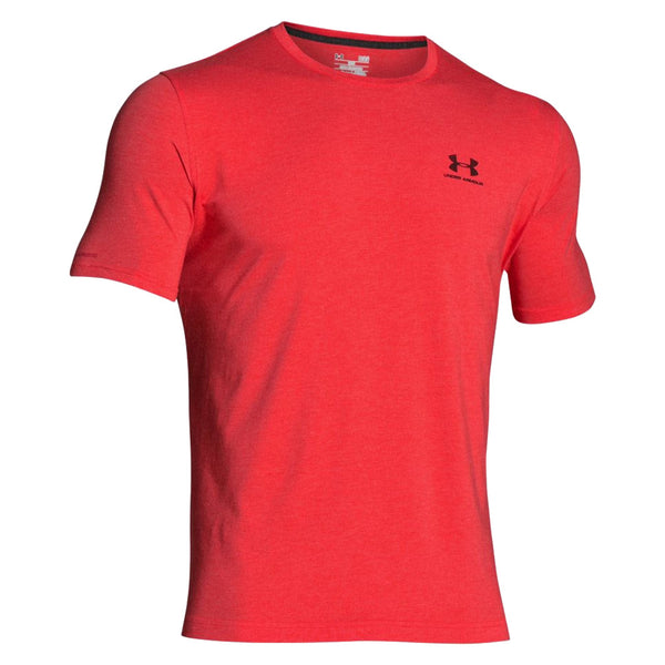 UNDER ARMOUR 1257616-984 Mens CC Left Chest Lockup Rocket Red Shirt