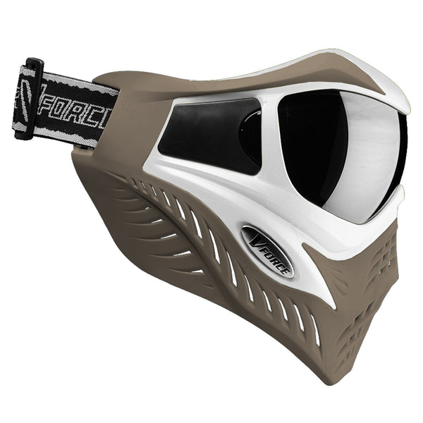 VFORCE Grill SC White-Taupe Thermal Paintball Mask (G295208)