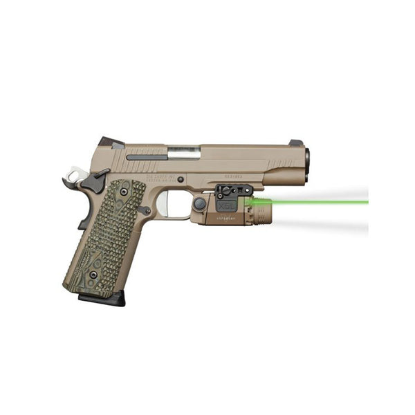 VIRIDIAN Flat Dark Earth Universal Mount Green Laser and ECR Tactical Light (X5L-FDE)