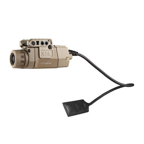 VIRIDIAN Flat Dark Earth Universal Mount Green Laser and ECR Tactical Light (X5L-RS-FDE)
