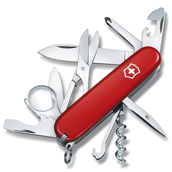 VICTORINOX Explorer 91mm Red Pocket Knife 56791-CLAM