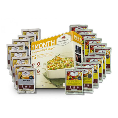 WISE FOOD 1 Month Emergency Food Supply, 112 Servings (01-116)