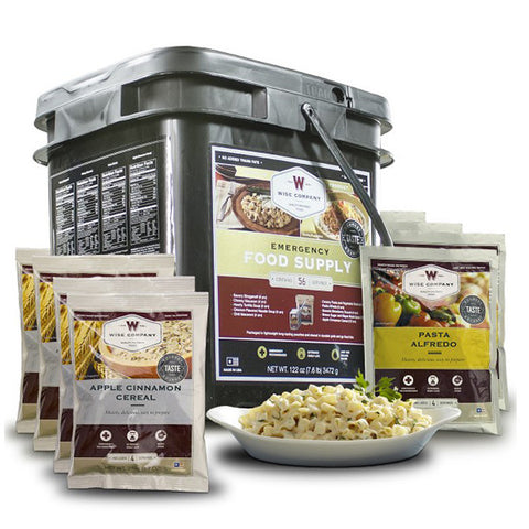 WISE FOOD 56 Serving Entree and Breakfast Grab and Go Food Kit (01-156)