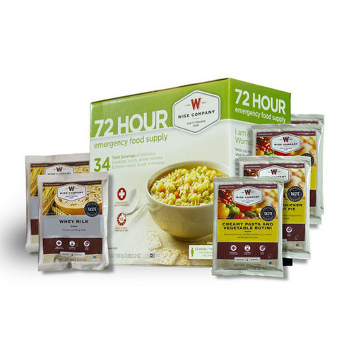 WISE FOOD 72 Hour Emergency Food Supply, 34 Servings (01-142)