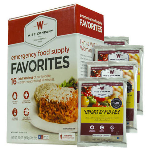 WISE FOOD Emergency Food Supply Favorites, 16 Servings (01-016)