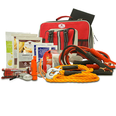 WISE FOOD Ultimate Emergency Auto Preparedness Kit, 53 Piece Auto Survival Kit (01-645)