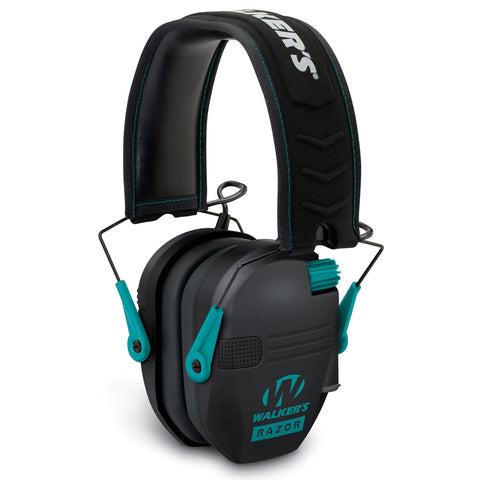 RAZOR Slim Low Profile Teal Electronic Earmuffs (GWP-RSEM-TL)