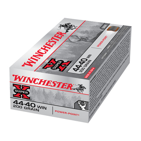 WINCHESTER Super-X 44-40 Win 200Gr Power-Point 500rd Case Handgun Ammo (X4440)