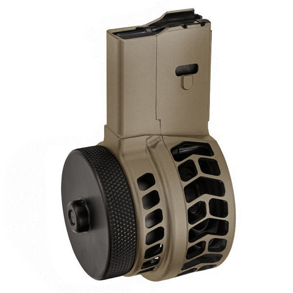 X PRODUCTS X15 Skeletonized AR15 Drum mag FDE Finish (X15-MSK223-FDE)