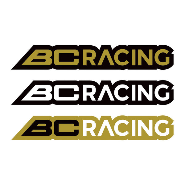 "BC Racing Logo Stickers 10""x1.55"""