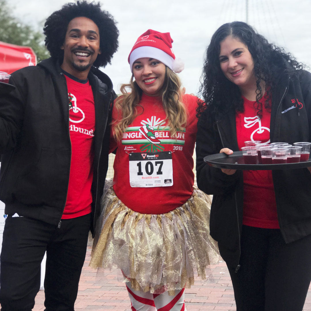 picture of three person on a Jingle Bell Run