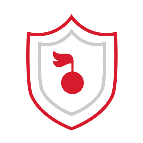a badge illustration with a cherry on the middle