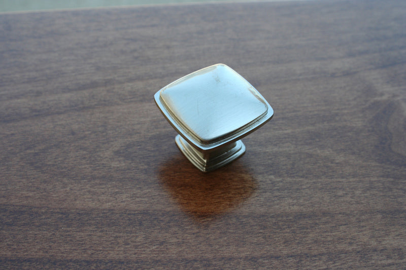Brushed Nickel Square Knob