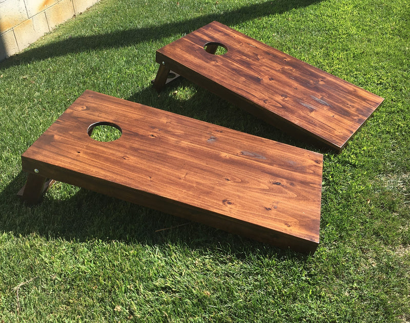 Natural Rustic Cornhole Bean Bag Toss Game