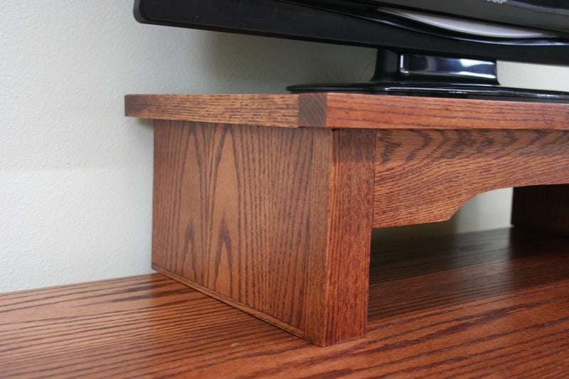 American Mission Oak TV Riser Stand