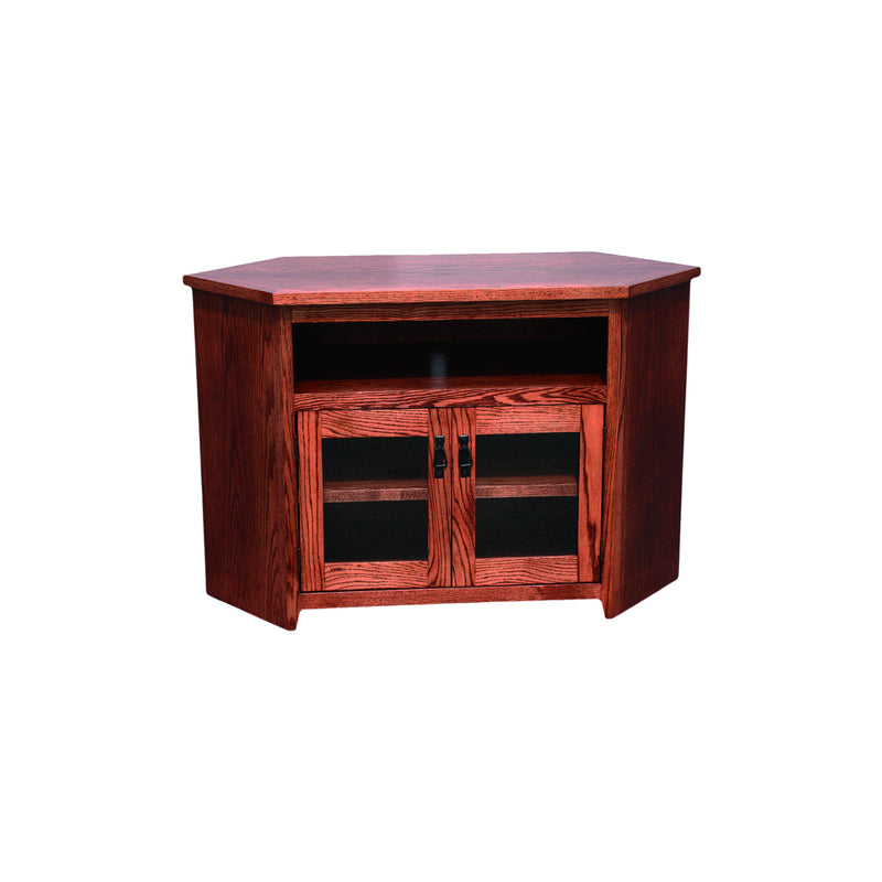 "American Mission Oak 55"" Corner Entertainment Console"