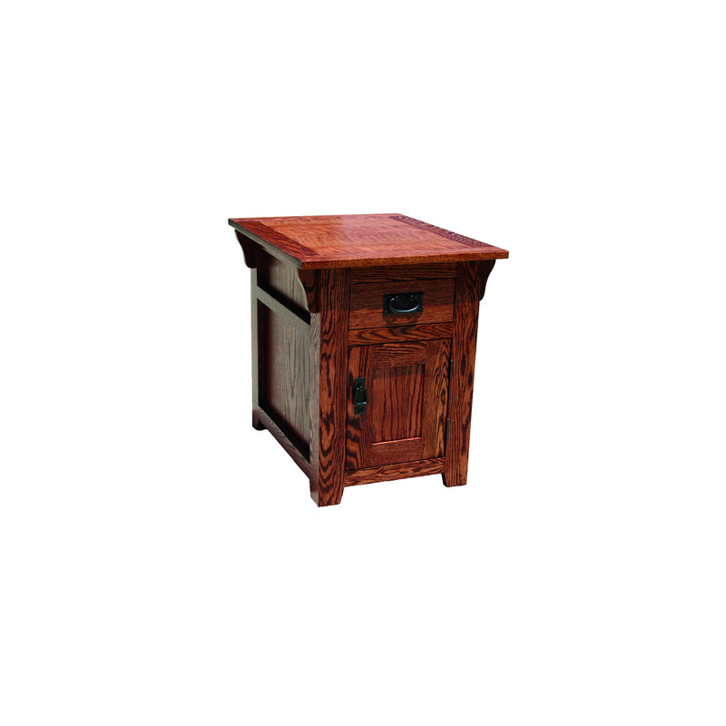 American Mission Oak Enclosed End Table
