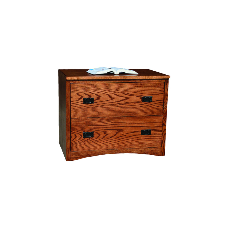 American Mission Oak 2-Drawer Locking Lateral File Cabinet