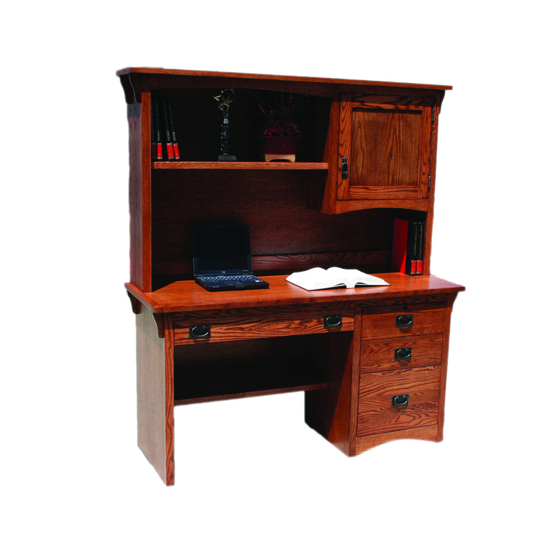 "American Mission Oak 60"" Computer Desk and Hutch"