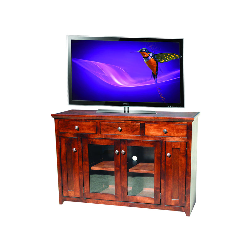 "Modern Shaker Oak 54"" Entertainment Console"