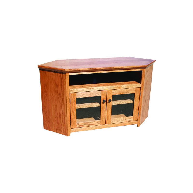 "Modern Shaker Oak 55"" Corner Entertainment Console"