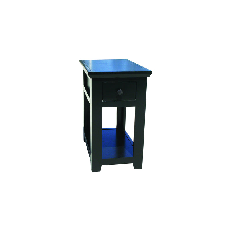 Modern Shaker Alder Chairside Table