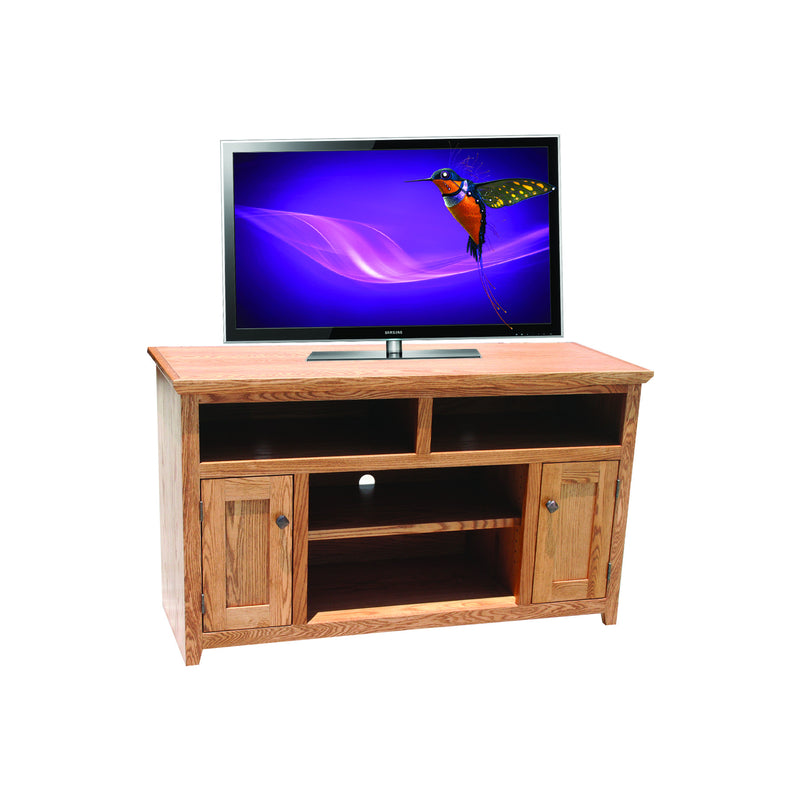 "Modern Shaker Oak 52"" Entertainment Console"