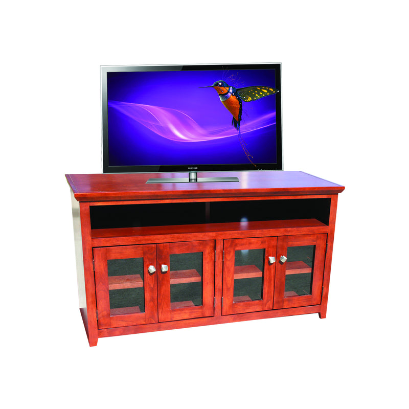 "Modern Shaker Oak 54"" Open TV Console"