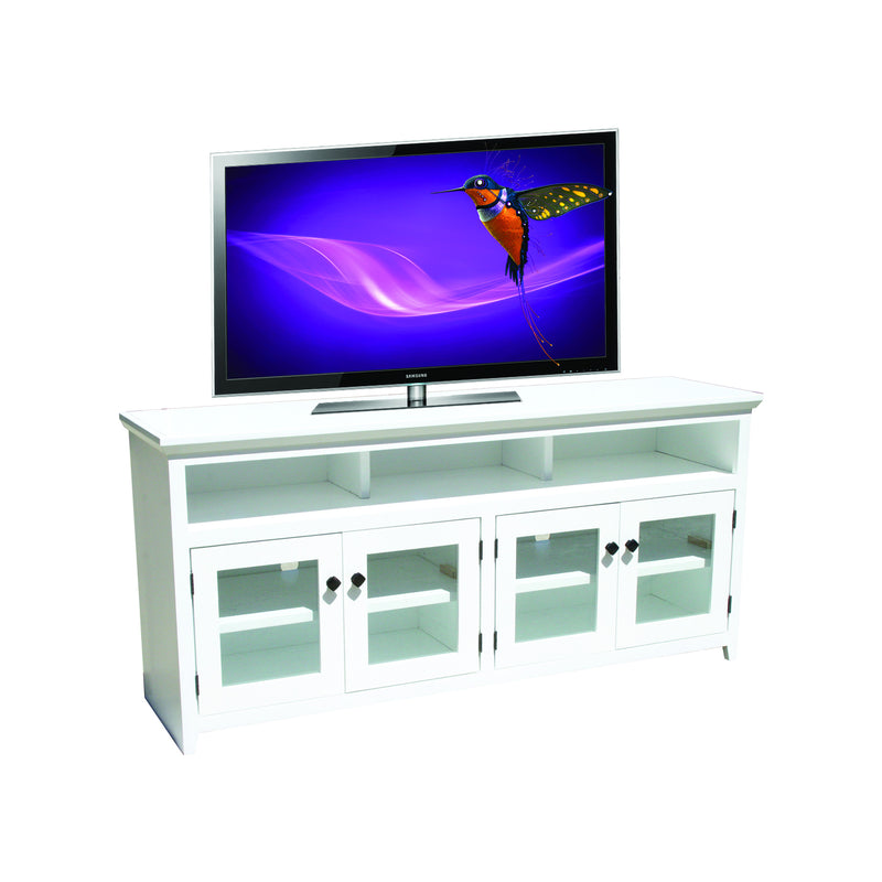 "Modern Shaker Oak 63"" Open TV Console"
