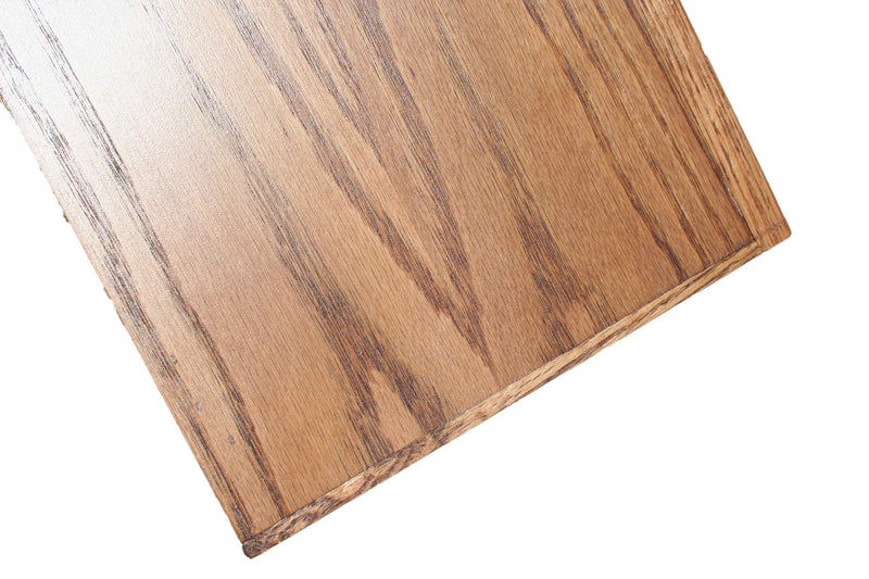 Solid Oak Lumber Banding on all exposed plywood