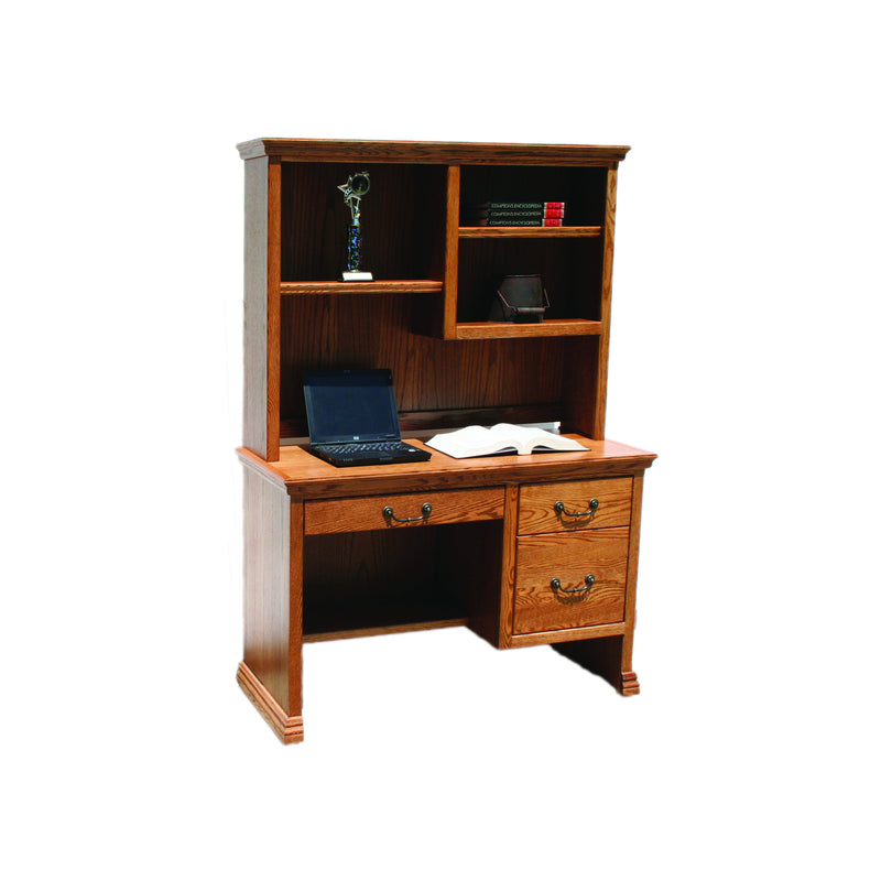 "Casano Traditional Oak 45"" Junior Desk and Hutch"