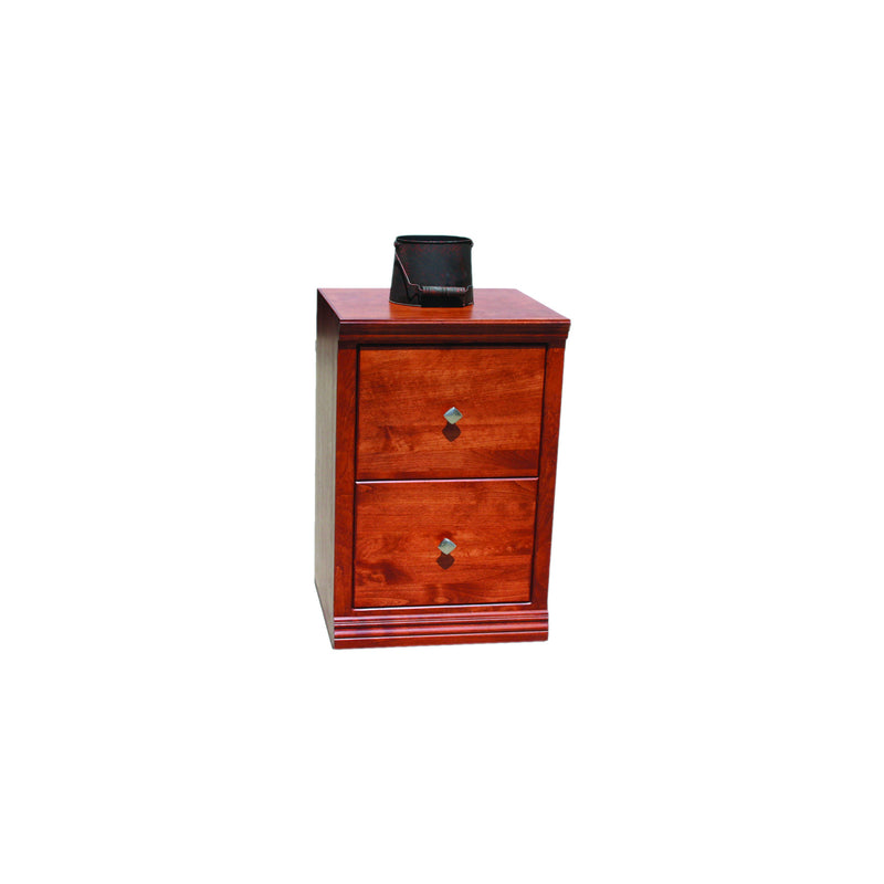 Casano Traditional Alder 2-Drawer Letter File Cabinet
