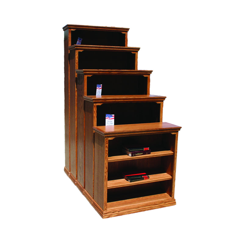 "Casano Traditional Oak 36""W Standard Bookcase"