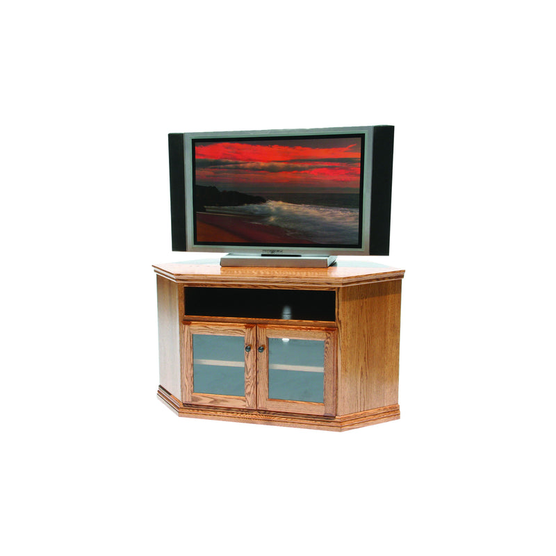 "Casano Traditional Alder 55"" Corner Entertainment Console"