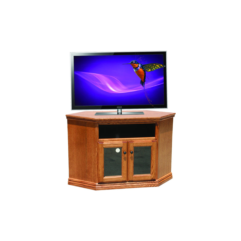 "Casano Traditional Alder 46"" Corner Entertainment Console"