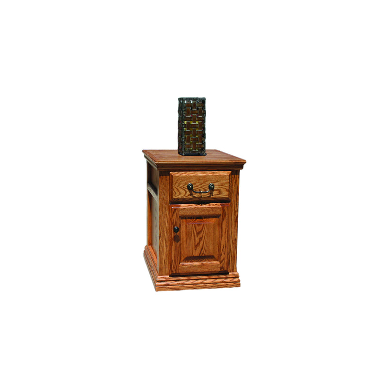 Casano Traditional Alder Enclosed End Table