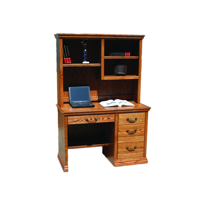 "Casano Traditional Oak 45"" Laptop Desk and Hutch"
