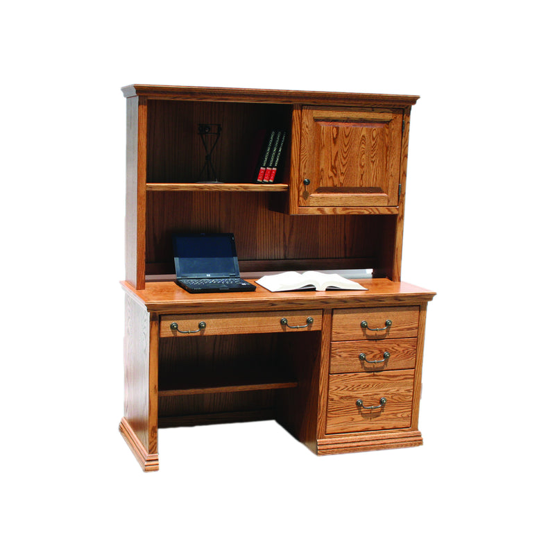 "Casano Traditional Oak 50"" Student Desk and Hutch"