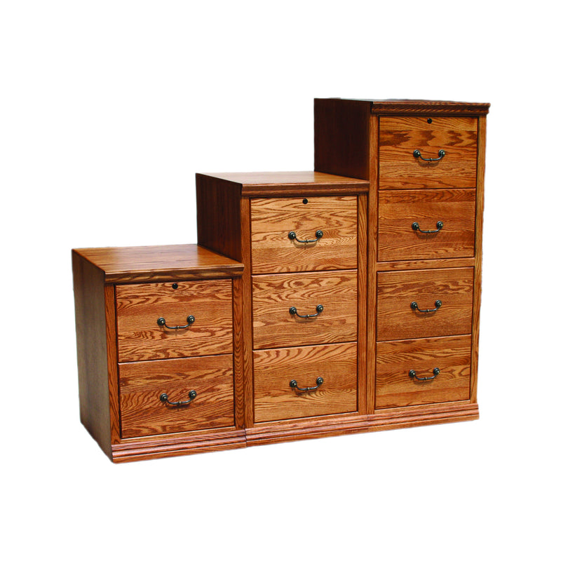 Casano Traditional Alder Vertical File Cabinet