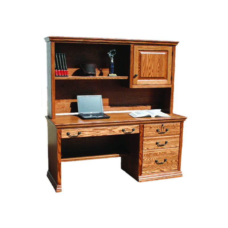 "Casano Traditional Oak 57"" Desk and Hutch"
