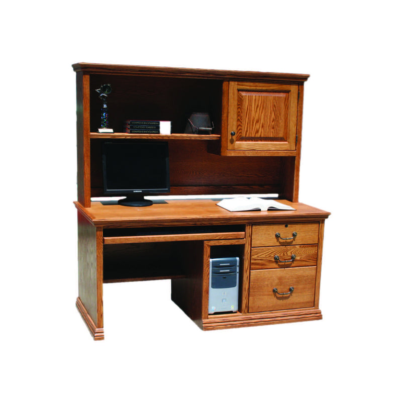 "Casano Traditional Oak 57"" Computer Desk with CPU Storage"