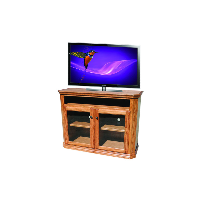 "Casano Traditional Alder 48"" Clipped Corner Entertainment Console"