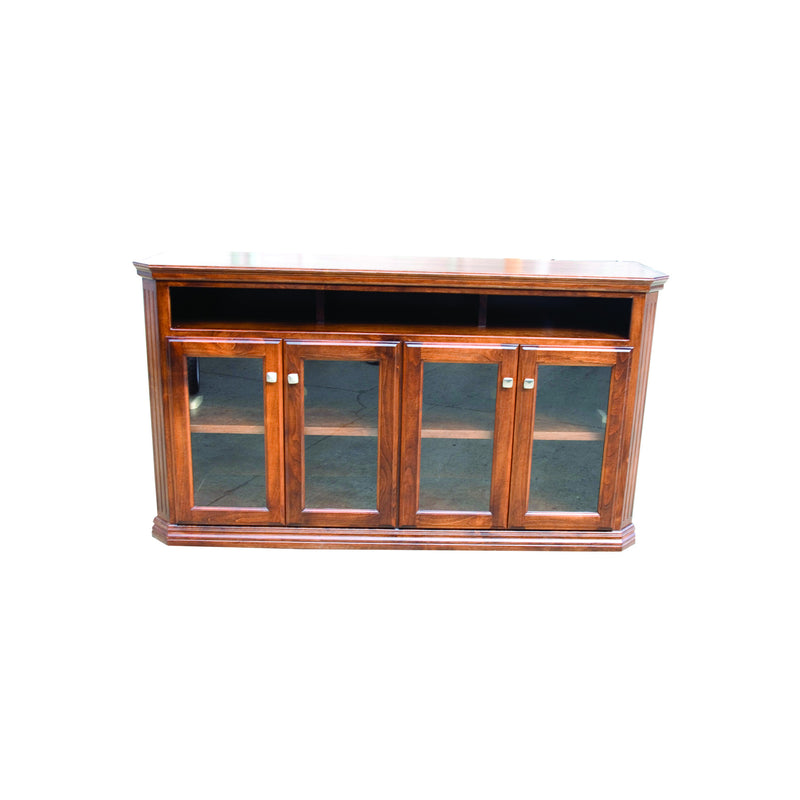 "Casano Traditional Alder 65"" Clipped Corner Open Entertainment Console"
