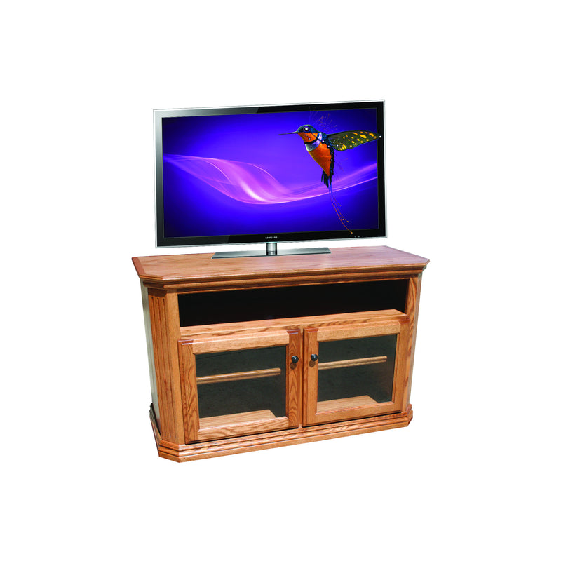 "Casano Traditional Alder 48"" Clipped Corner TV Console"