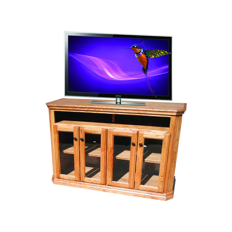 "Casano Traditional Oak 56"" Open Clipped Corner Entertainment Console"